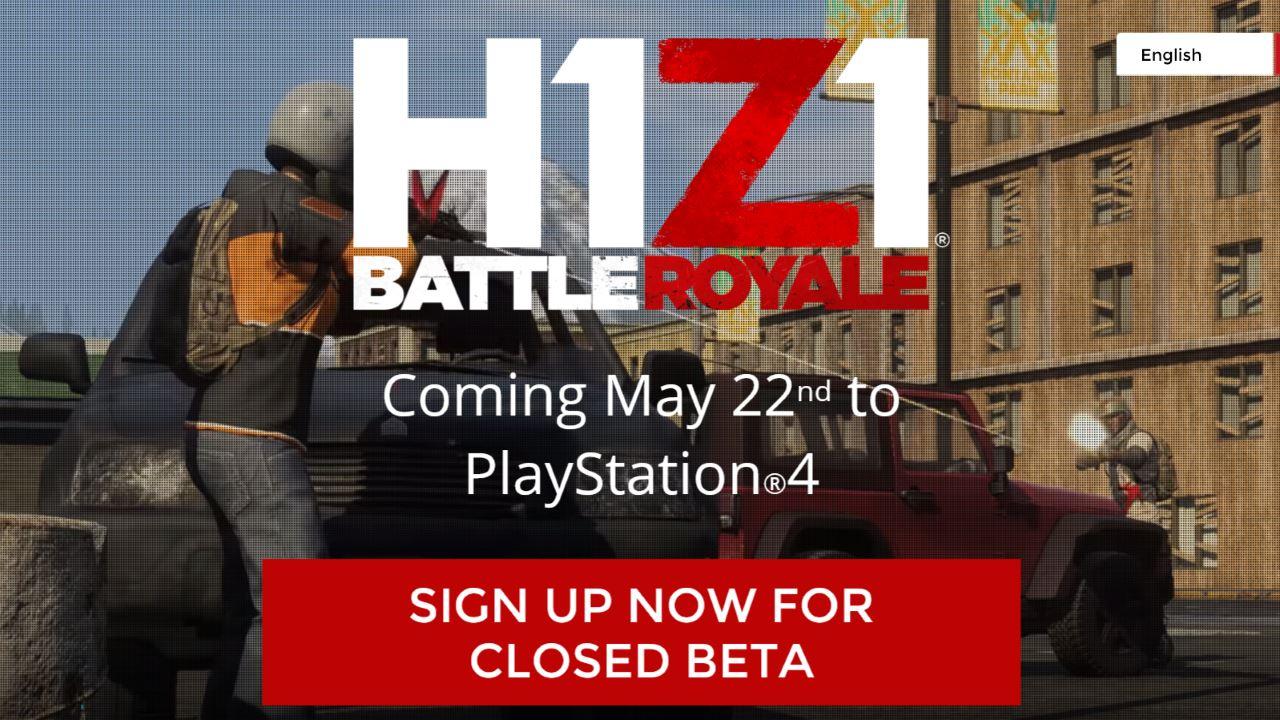 Game battle royale H1Z1 đang cho đăng ký tham gia closed beta trên PlayStation 4
