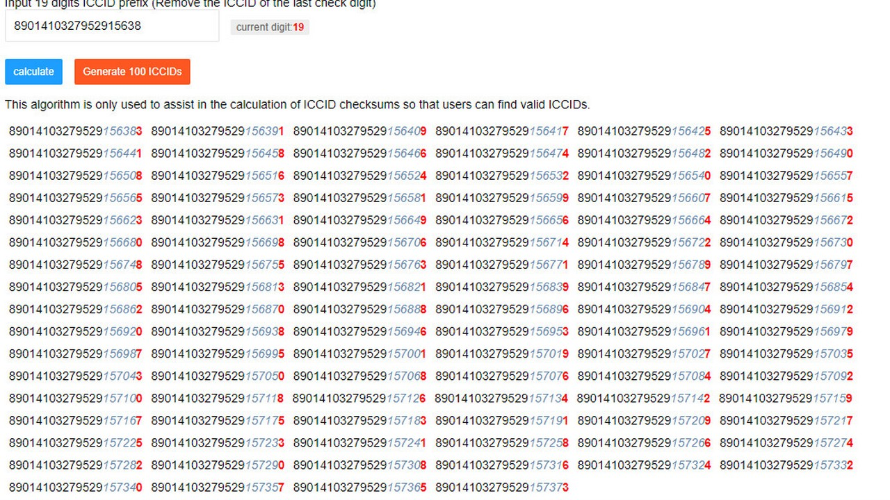 Lộ hàng ngàn ICCID,