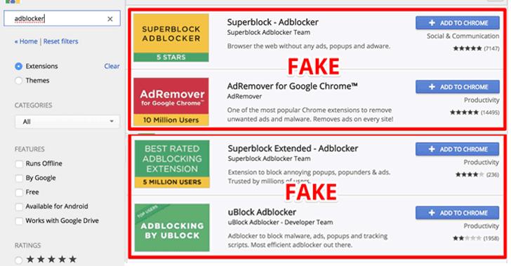 malware adblocker chrome - 20 triệu người đã cài trình chặn quảng cáo giả trên Chrome, bạn có liên quan?