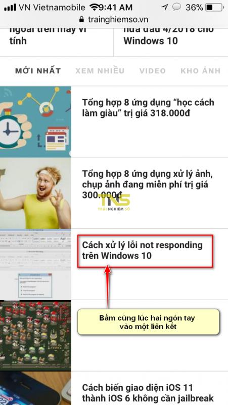 mo tab safari 2 451x800 - Hai mẹo mở tab mới cực hay trên trình duyệt Safari của iPhone