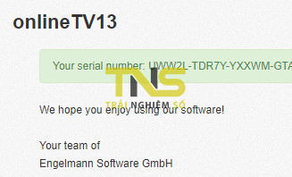 onlinetv 13 serial key