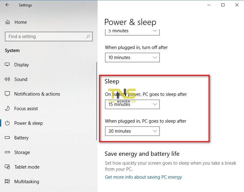 tat che do sleep win 10 1 800x631 - Cách bật tắt chế độ Sleep trên Windows 10
