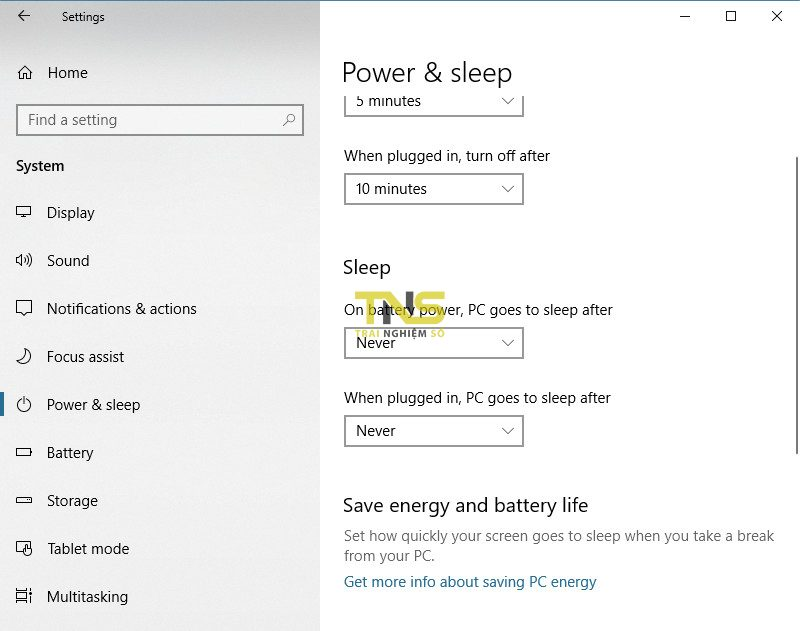 tat che do sleep win 10 2 800x631 - Cách bật tắt chế độ Sleep trên Windows 10