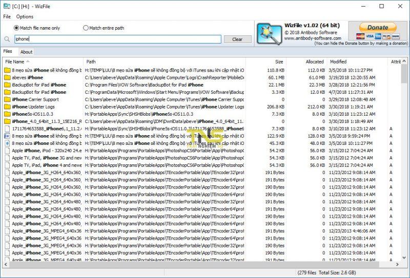 Tuyệt chiêu tìm file siêu nhanh, dọn ổ cứng cực lẹ với WizFile 1