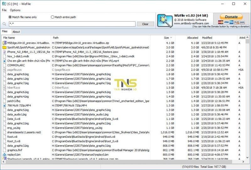 Tuyệt chiêu tìm file siêu nhanh, dọn ổ cứng cực lẹ với WizFile 4