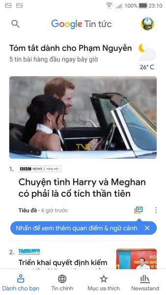 Trải nghiệm Google Tin tức mới 1