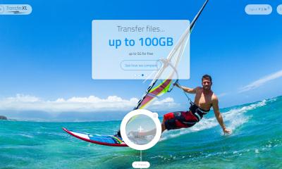TransferXL 400x240 - Chia sẻ tập tin 10 GB miễn phí mỗi ngày và an toàn