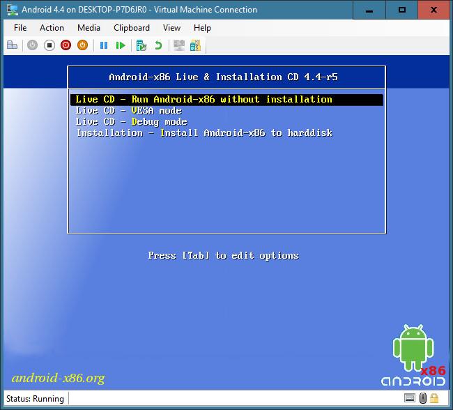 android x86 hyperv 6 - Cách chạy trực tiếp Android trên Windows 10