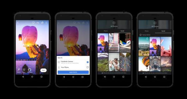 facebook camera save photos and videos 600x319 - Facebook cập nhật lưu trữ đám mây, bài viết bằng giọng nói và lưu giữ Stories