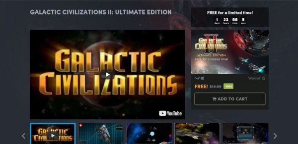 Galactic Civilizations II: Ultimate Edition free Humble Store