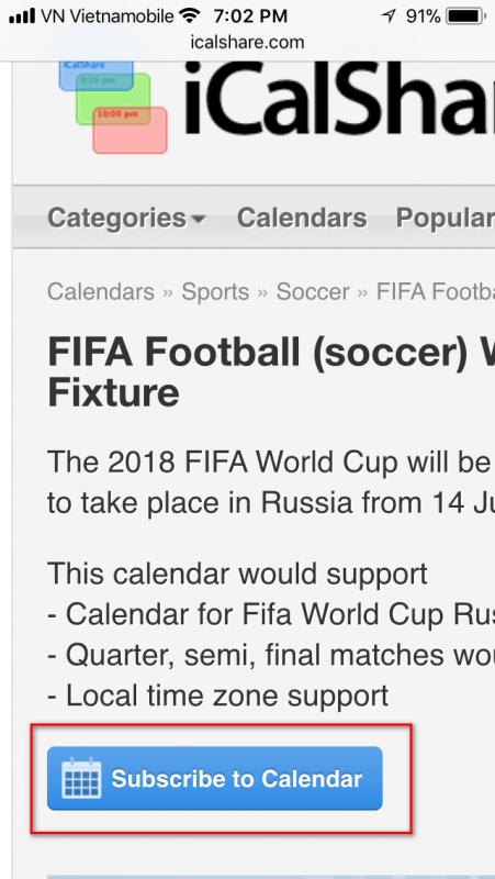 lich world cup 2018 iphone 1 451x800 - Cách thêm lịch thi đấu World Cup 2018 vào iPhone