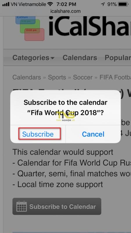 lich world cup 2018 iphone 2 451x800 - Cách thêm lịch thi đấu World Cup 2018 vào iPhone