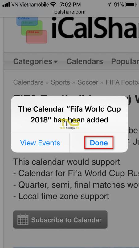 lich world cup 2018 iphone 3 451x800 - Cách thêm lịch thi đấu World Cup 2018 vào iPhone