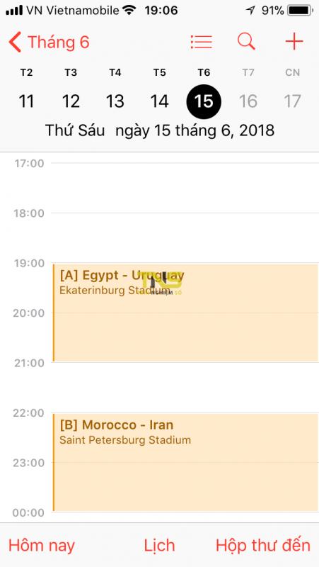 lich world cup 2018 iphone 4 451x800 - Cách thêm lịch thi đấu World Cup 2018 vào iPhone