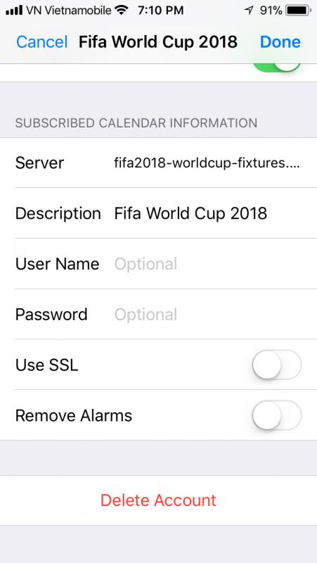 lich world cup 2018 iphone 8 451x800 - Cách thêm lịch thi đấu World Cup 2018 vào iPhone