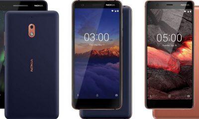 Từ trái sang phải: Nokia 2.1, Nokia 3.1 và Nokia 5.1