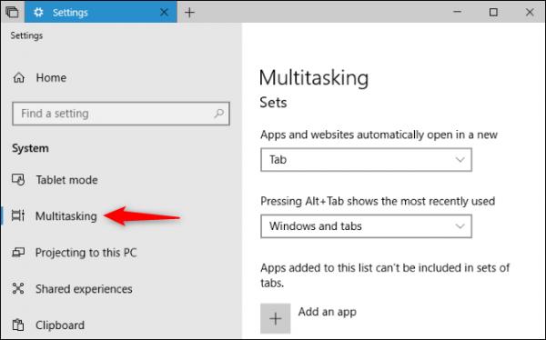 sets 7 600x374 - Hướng dẫn sử dụng tính năng Sets trên Windows 10 Redstone 5