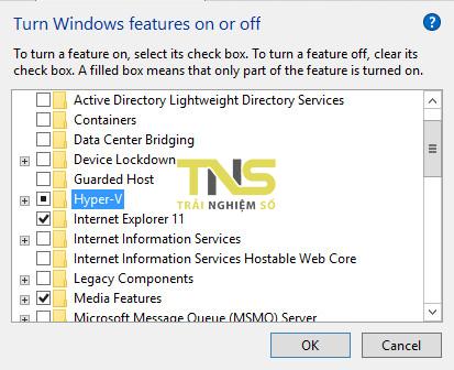 windows 10 hyper v 1 - Cách chạy trực tiếp Android trên Windows 10