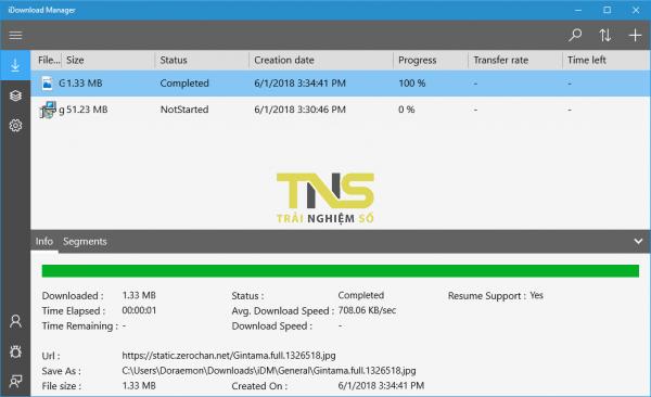iDownload Manager: Trình tăng tốc download miễn phí và nhanh như IDM 4