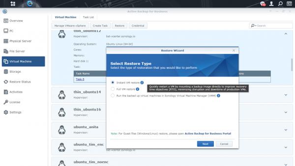 Synology ra mắt hai ứng dụng sao lưu chính trong gói phần mềm Active Backup 2