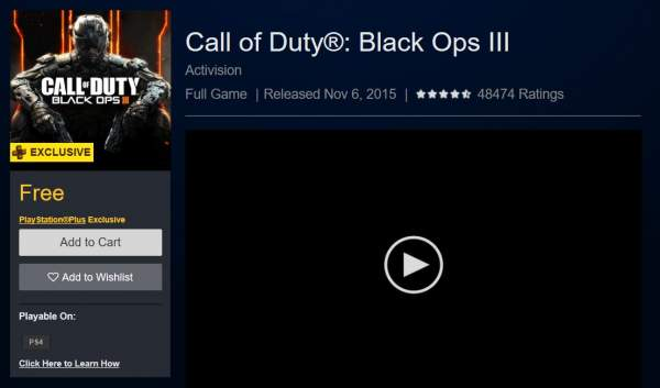 call of duty black ops iii free playstation store 600x353 - Đang miễn phí game FPS Call of Duty: Black Ops III trên PlayStation Store