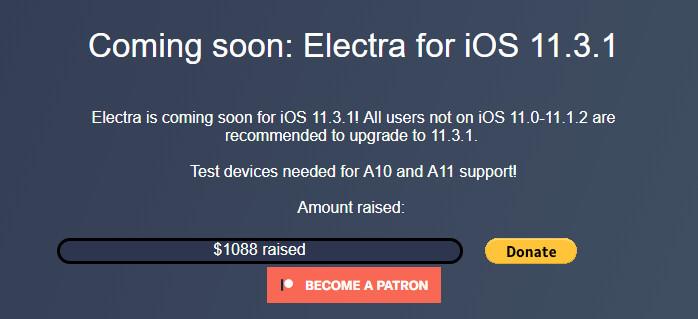 electra 11 3 1 - Jailbreak iOS 11.3.1: Những thông tin cần biết