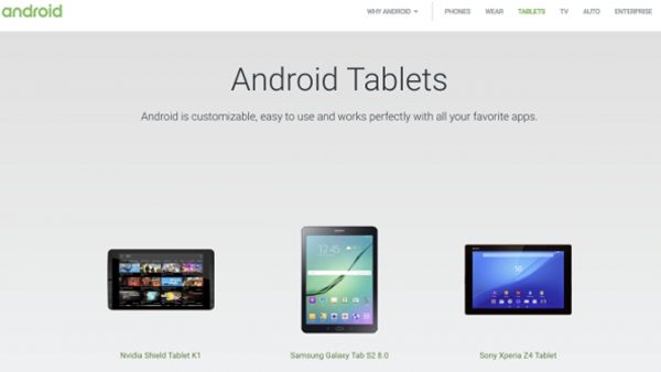 tablet 600x338 - Chuyên trang tablet bất ngờ biến mất khỏi website Android