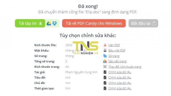 PDFCandy: Tiện ích chỉnh sửa PDF trực tuyến và trên Windows miễn phí 7
