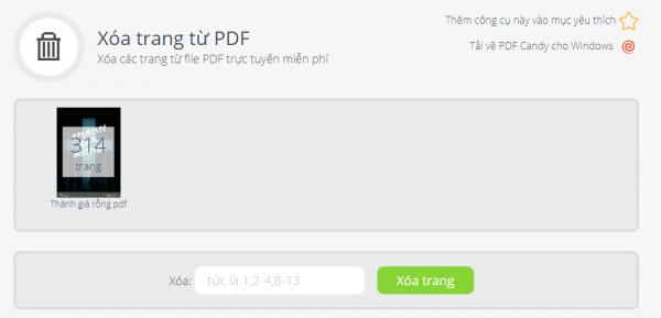 PDFCandy: Tiện ích chỉnh sửa PDF trực tuyến và trên Windows miễn phí 12
