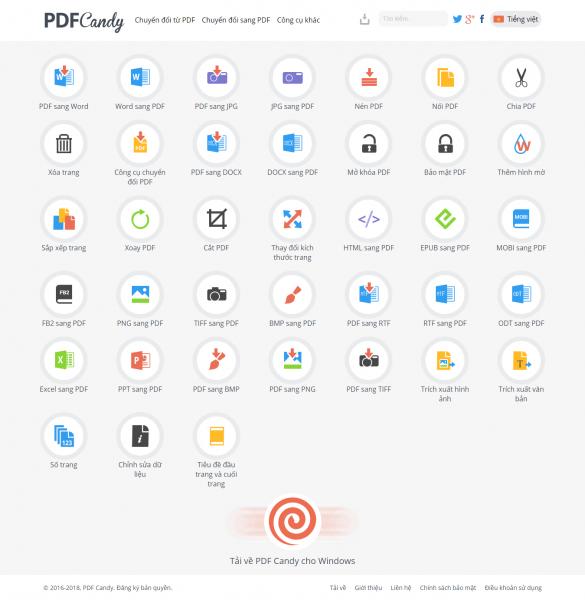 PDFCandy: Tiện ích chỉnh sửa PDF trực tuyến và trên Windows miễn phí 1