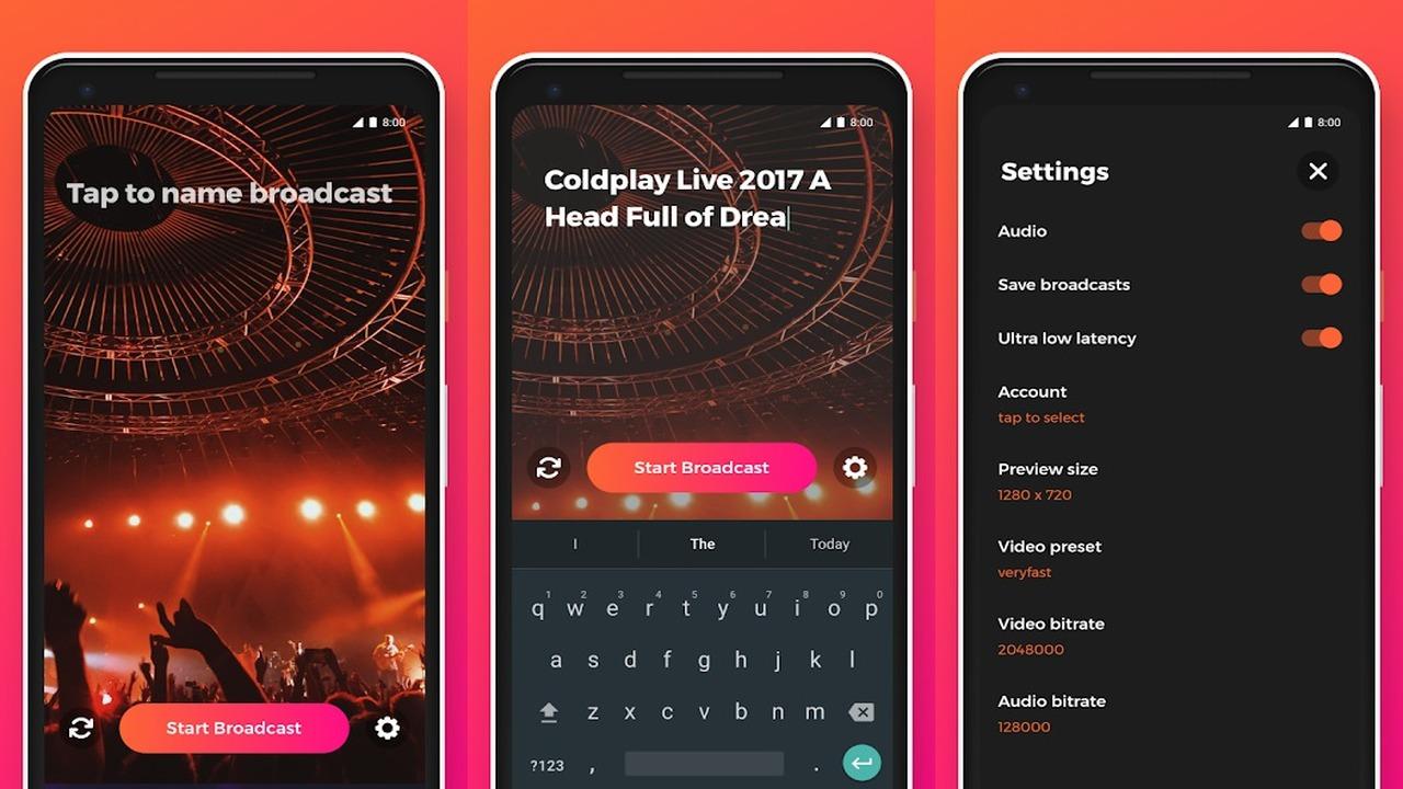 YouStream1280x720 - Cách tạo video live stream cực nhanh lên YouTube từ Android