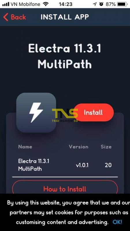 electra multipath 1 450x800 - Cách jailbreak iOS 11.3.1 bằng phiên bản Electra multipath (Dev account)