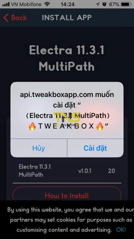 electra multipath 2 450x800 - Cách jailbreak iOS 11.3.1 bằng phiên bản Electra multipath (Dev account)