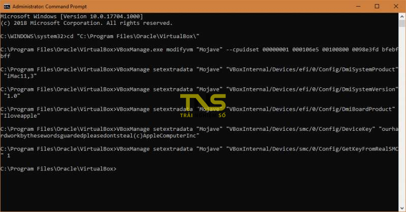 mojave virtualbox 10 800x418 - Cách cài macOS Mojave lên máy ảo trên Windows 10