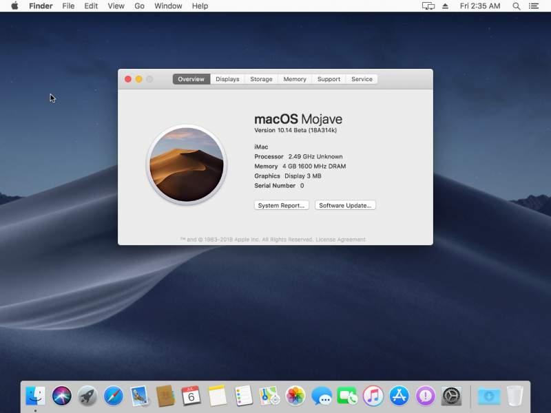 mojave virtualbox 18 800x600 - Cách cài macOS Mojave lên máy ảo trên Windows 10