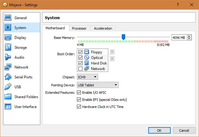 mojave virtualbox 5 - Cách cài macOS Mojave lên máy ảo trên Windows 10