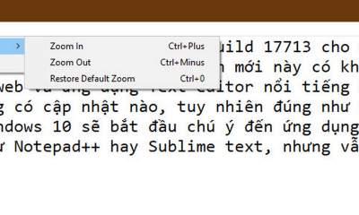 notepad windows 10 2 1 400x240 - Notepad - những tính năng mới trên phiên bản Windows 10 Build 17713