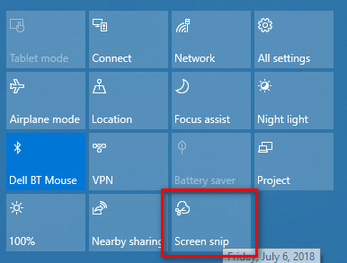 screen snip - Cách thêm tính năng chụp màn hình vào phím chuột phải trên Windows 10