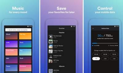 spotify lite featured 400x240 - Spotify Lite - ứng dụng rút gọn của Spotify chính thức ra mắt