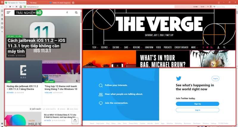 vivaldi multi tab 3 800x429 - Duyệt nhiều trang web trên một màn hình với tính năng Tab Tiling trình duyệt Vivaldi