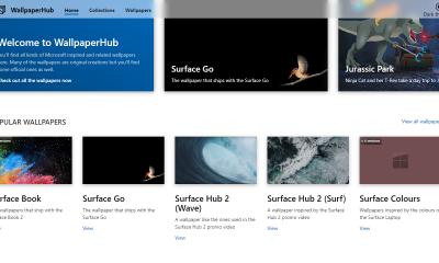WallpaperHub 400x240 - Mời bạn tải hình nền gốc của tất cả sản phẩm Microsoft