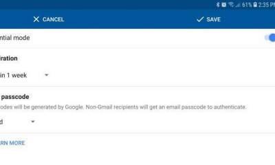 confidential mode featured 400x240 - Gmail trên Android đã có tính năng tự huỷ email (Confidential Mode)