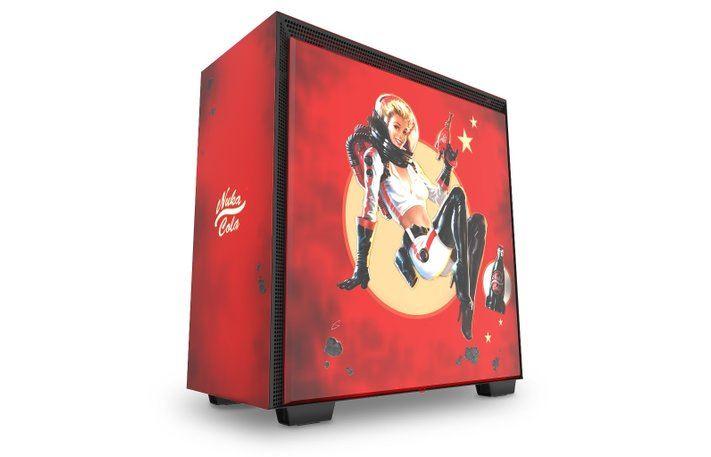 """nzxt fallout h700 nuka cola pc case screen 1 - H700 Nuka-Cola - case máy tính """"chất lừ"""" mang chủ đề Fallout từ NZXT"""
