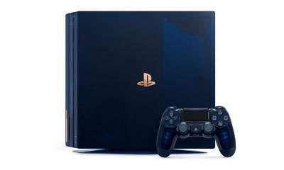 PS4 Pro 2TB translucent dark blue limited edition