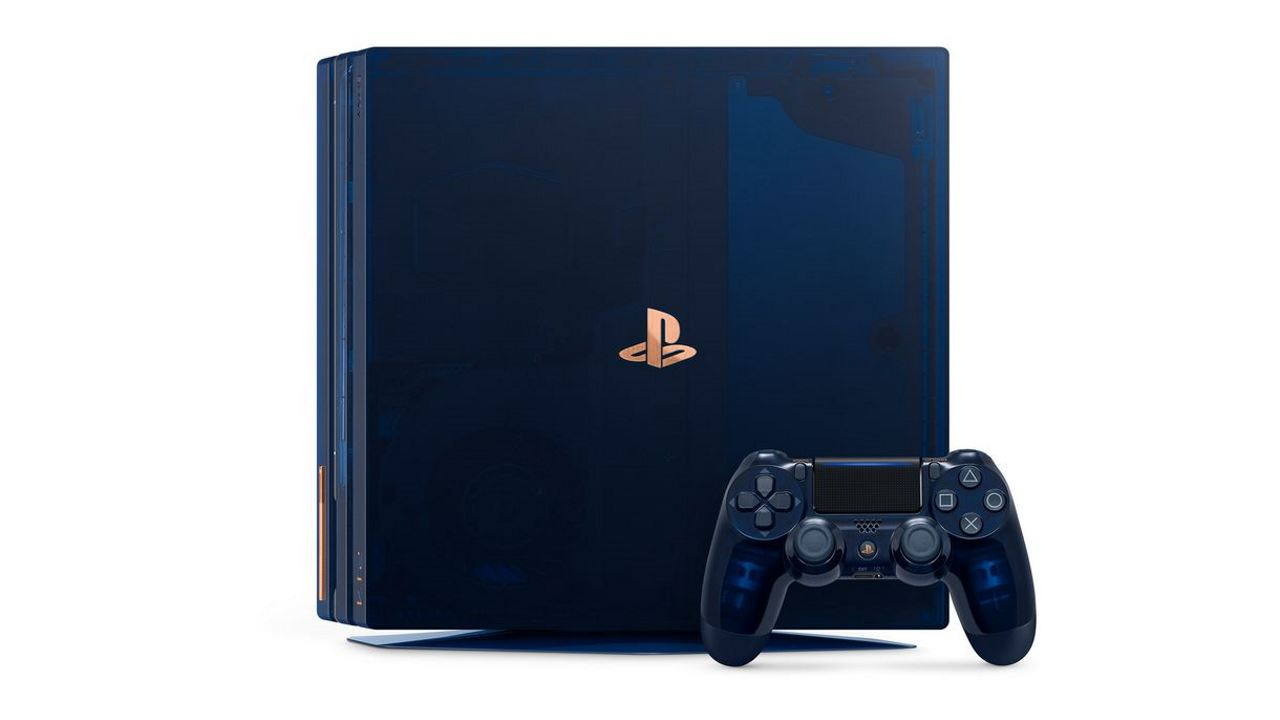 PS4 Pro 2TB translucent dark blue limited edition