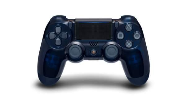 ps4 pro translucent dark blue controller limited edition 600x338 - Bán được hơn 500 triệu máy PlayStation, Sony ăn mừng bằng mẫu PS4 Pro 2TB phát hành hạn chế