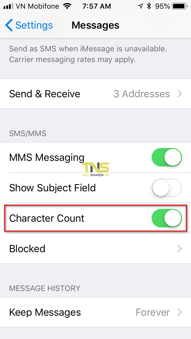 sms character count ios 1 - Cách thêm bộ đếm số ký tự khi soạn tin SMS trên iPhone