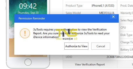 """3utools check iphone 2 - """"Tuyệt chiêu"""" kiểm tra iPhone có bị """"luộc"""" linh kiện không khi mua"""