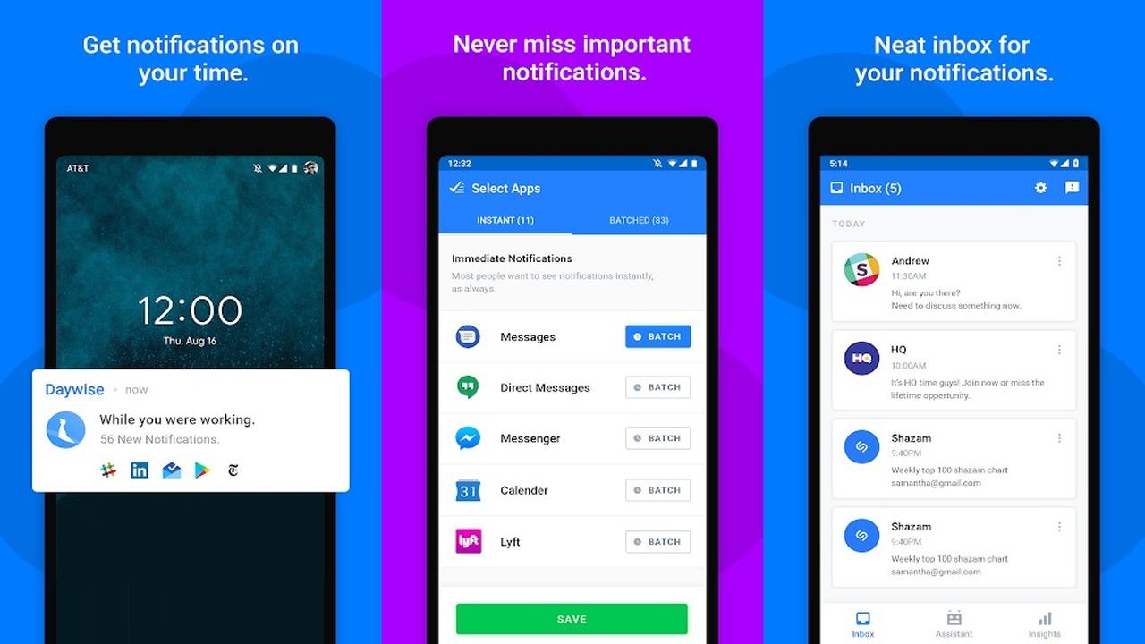 Daywise - Daywise: Không còn nỗi phiền toái từ thông báo trên Android