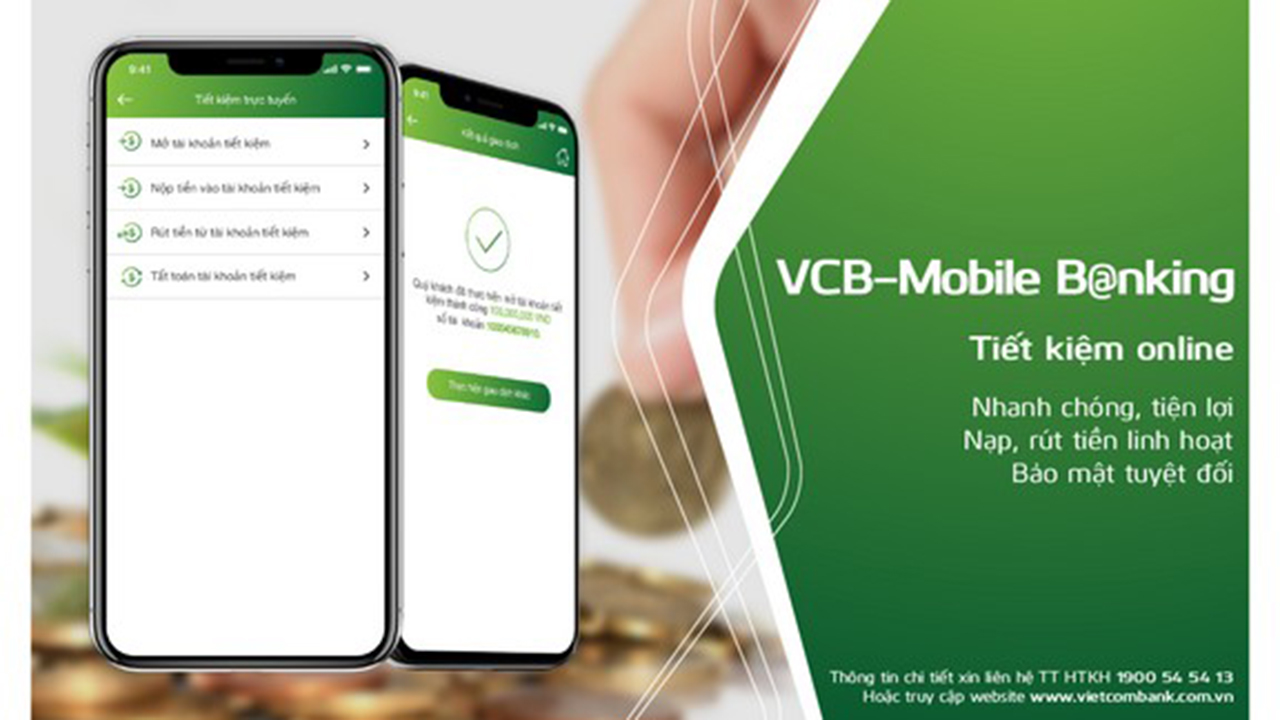VCB chuyen doi - Ngân hàng đã cho khách hàng cập nhật thông tin số điện thoại mới